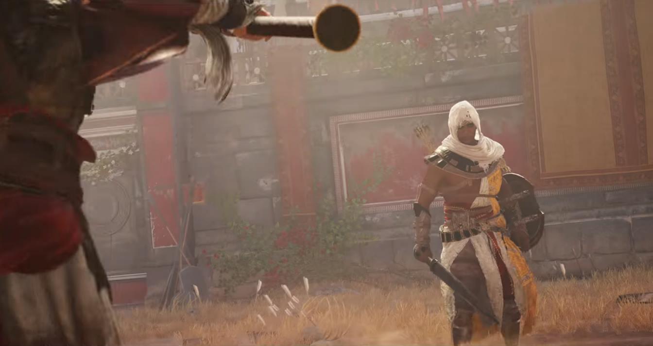 Assassin's Creed Bayek prêt au combat