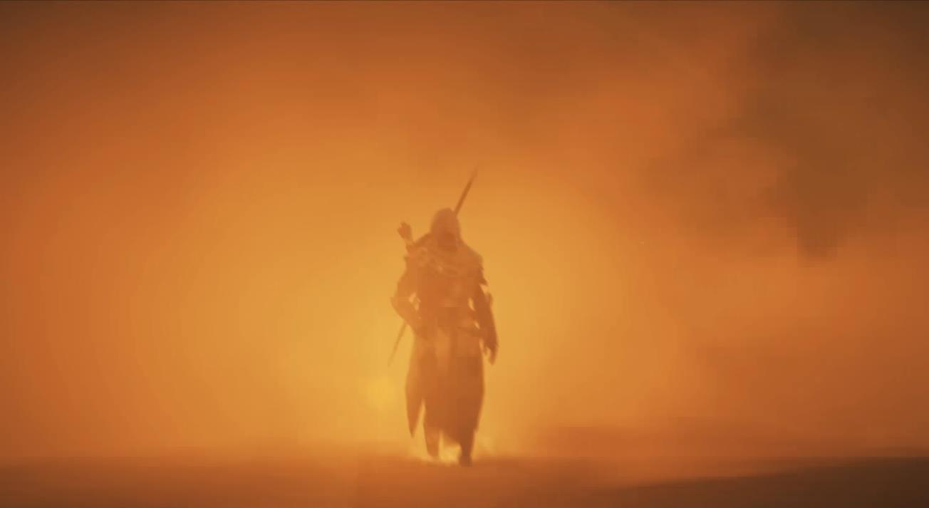 Assassin's Creed Origins Bayek dans la lumière