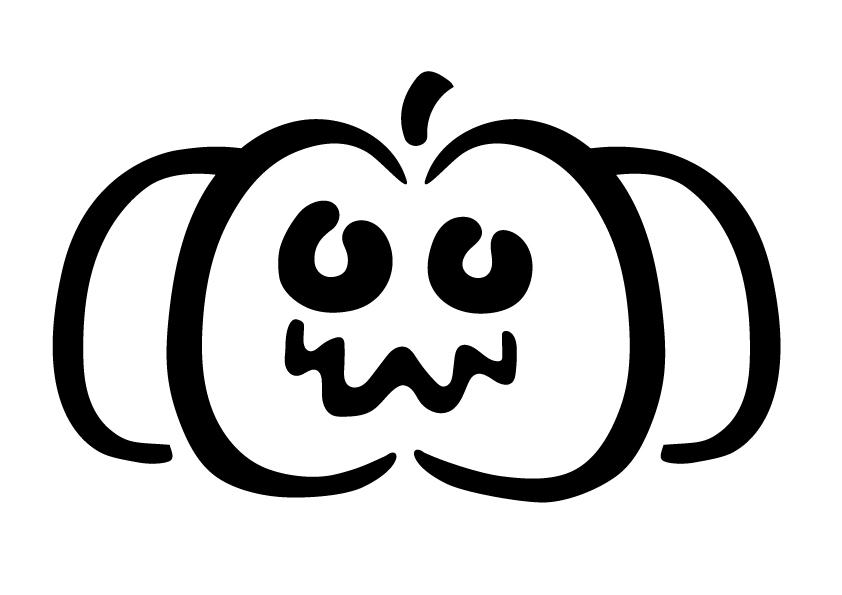 Pochoir Citrouille-Halloween