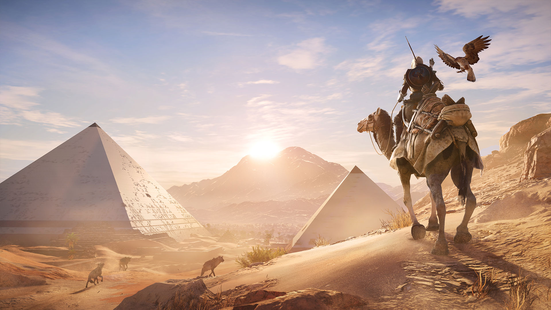 Assassin's Creed Origins Face aux Pyramides