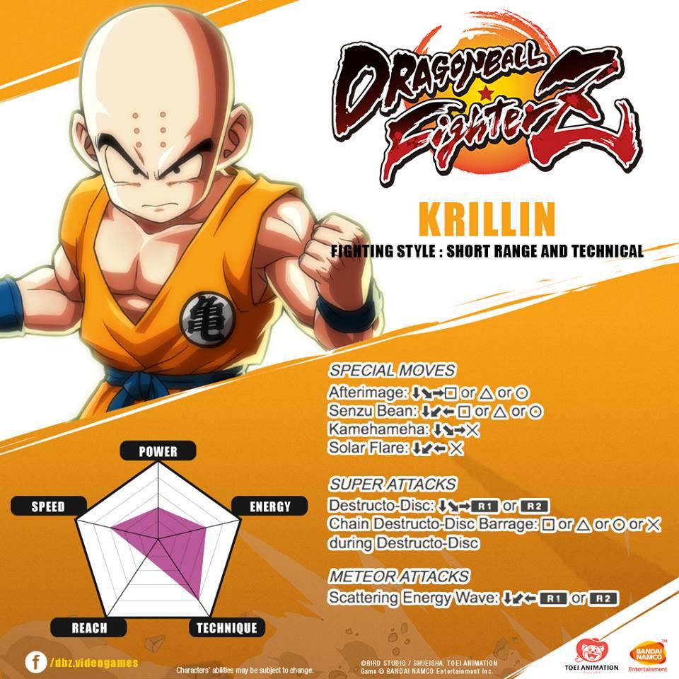 Liste des coups spéciaux de Krilin dans DragonBall FighterZ