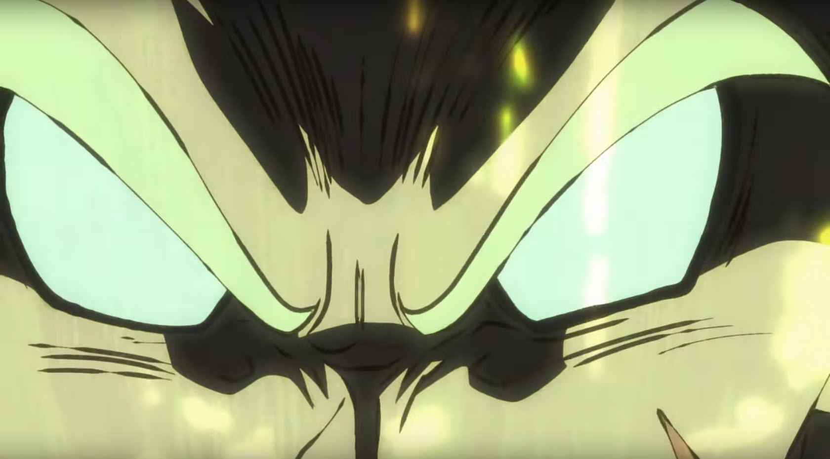 Regard de Broly qui se transforme Dragon Ball Super