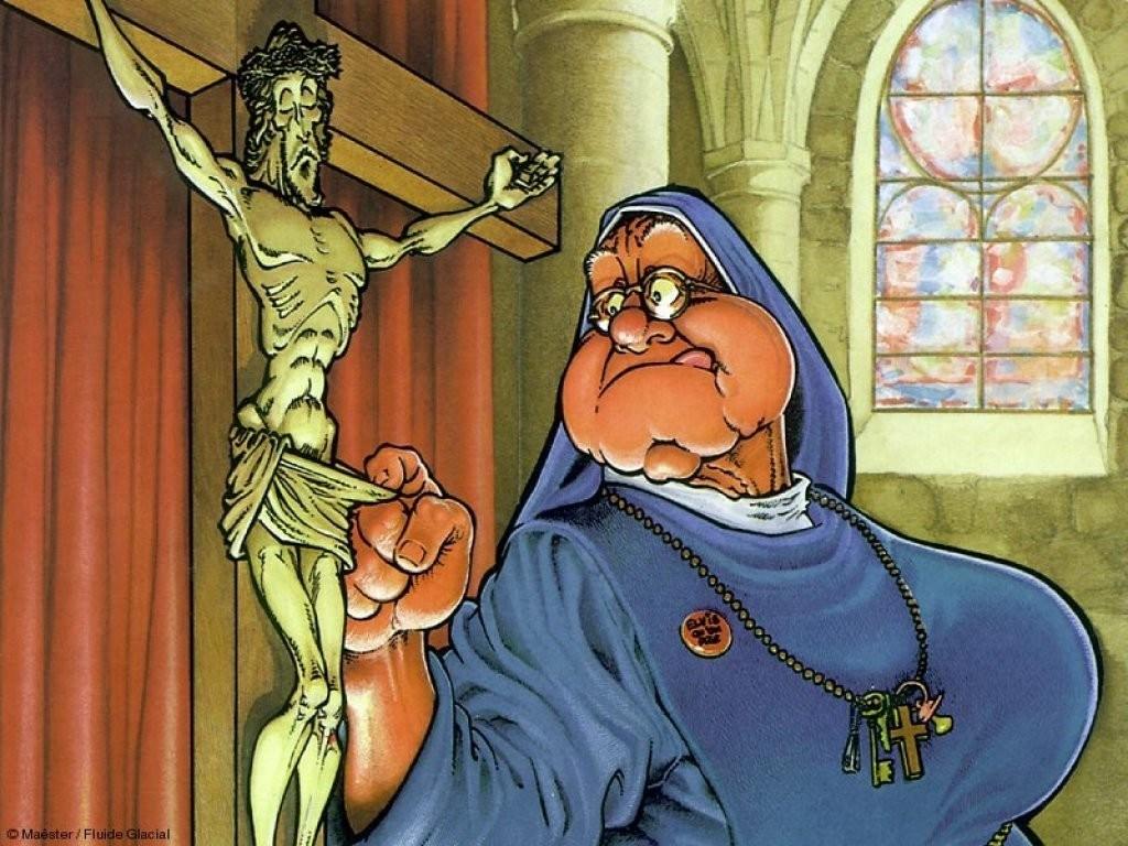 Funny Nun with Happy Shocked on her Face Stifling a wie Sie Ihr Passwort auf bet at home ändern bet at home gut oder schlecht Laugh.
