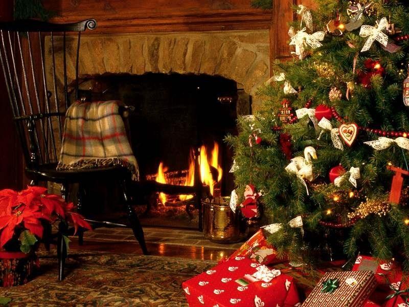 T l charger fonds d 39 cran no l gratuitement - Decoration de noel cheminee ...