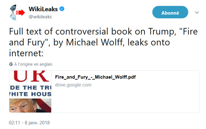 Fire And Fury Michael Wolff PDF Tweet