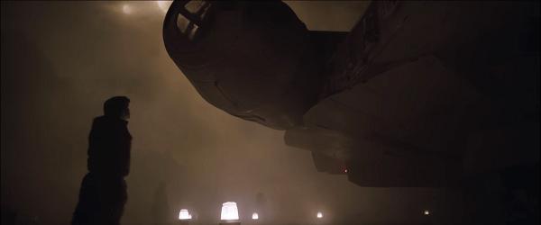 Han Solo devant un vaisseau