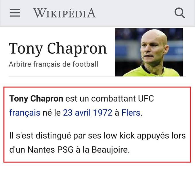 Tony Chapron Wikipedia