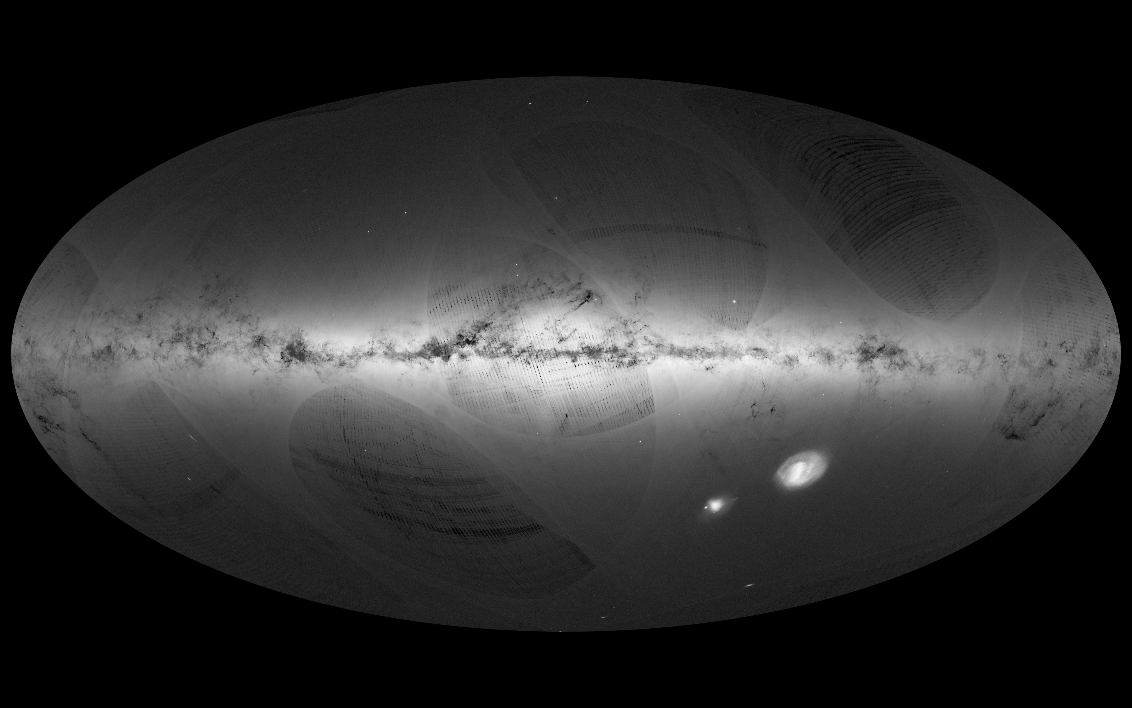 Carte de la voie lactée par la sonde  Gaïa