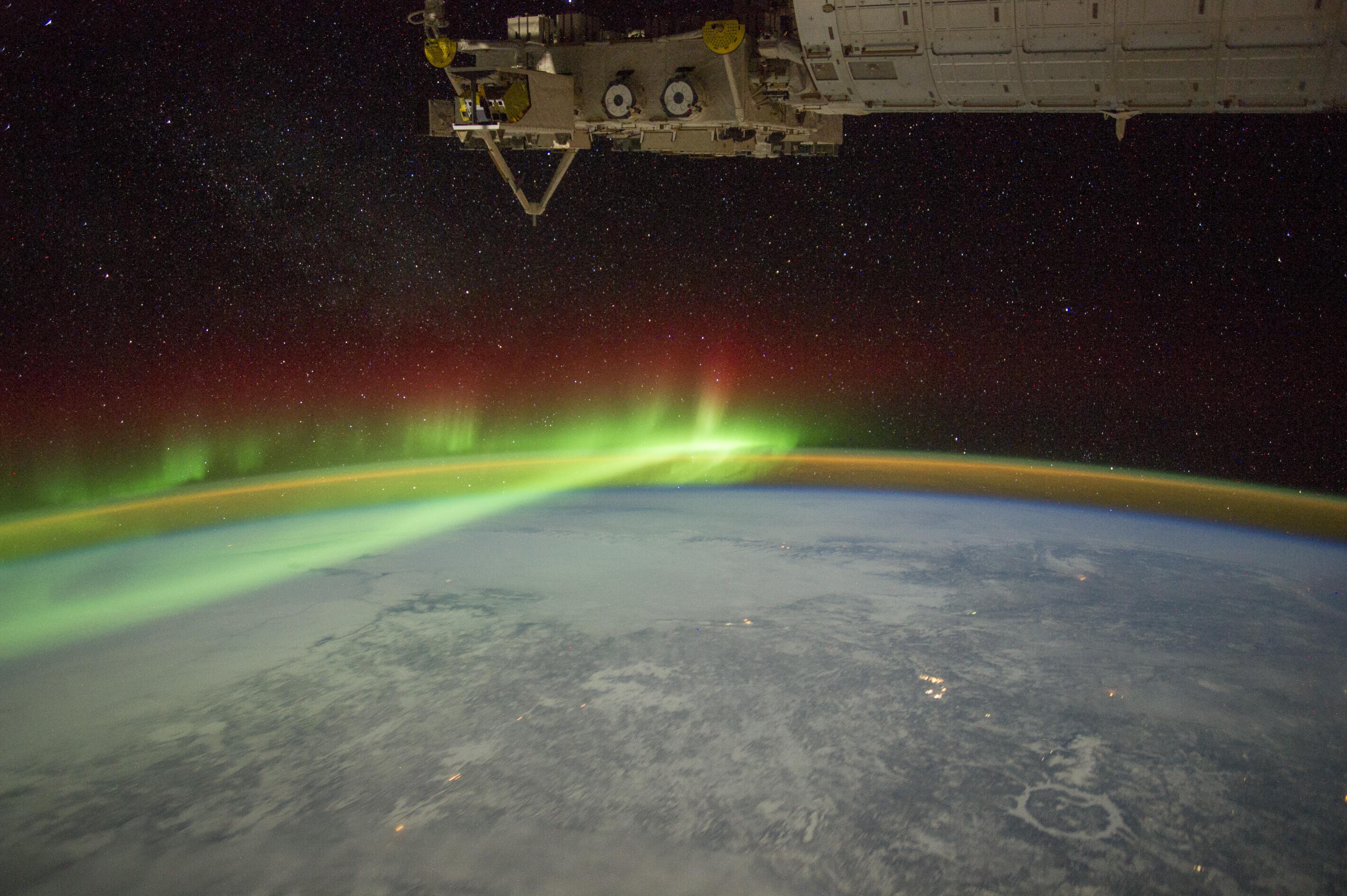 Le Canada Vu de l'espace: Aurore Boréale