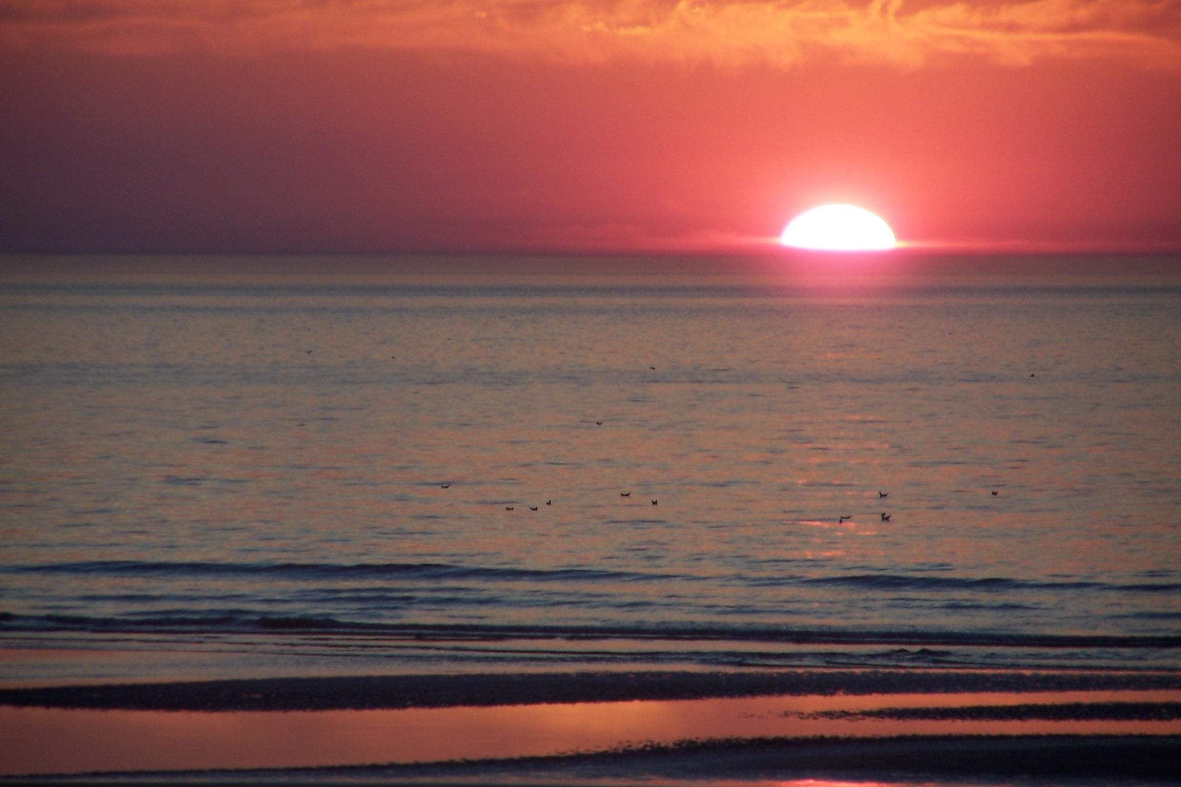 T l charger fonds d 39 cran coucher de soleil gratuitement - Coucher de soleil en mer ...