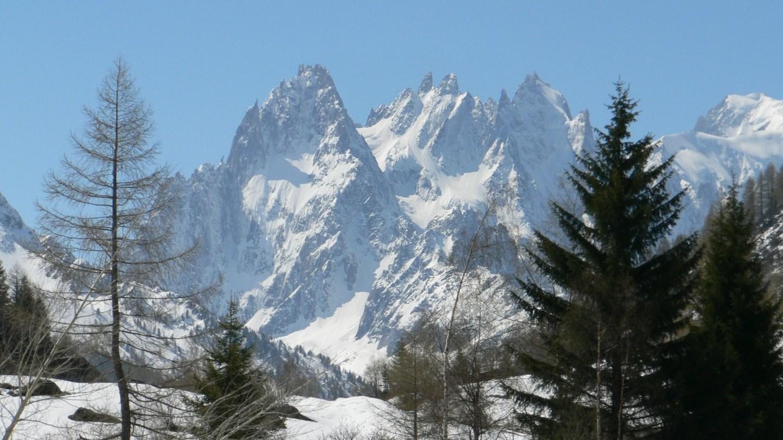 Massif du Mont-Blanc vers Chamonix