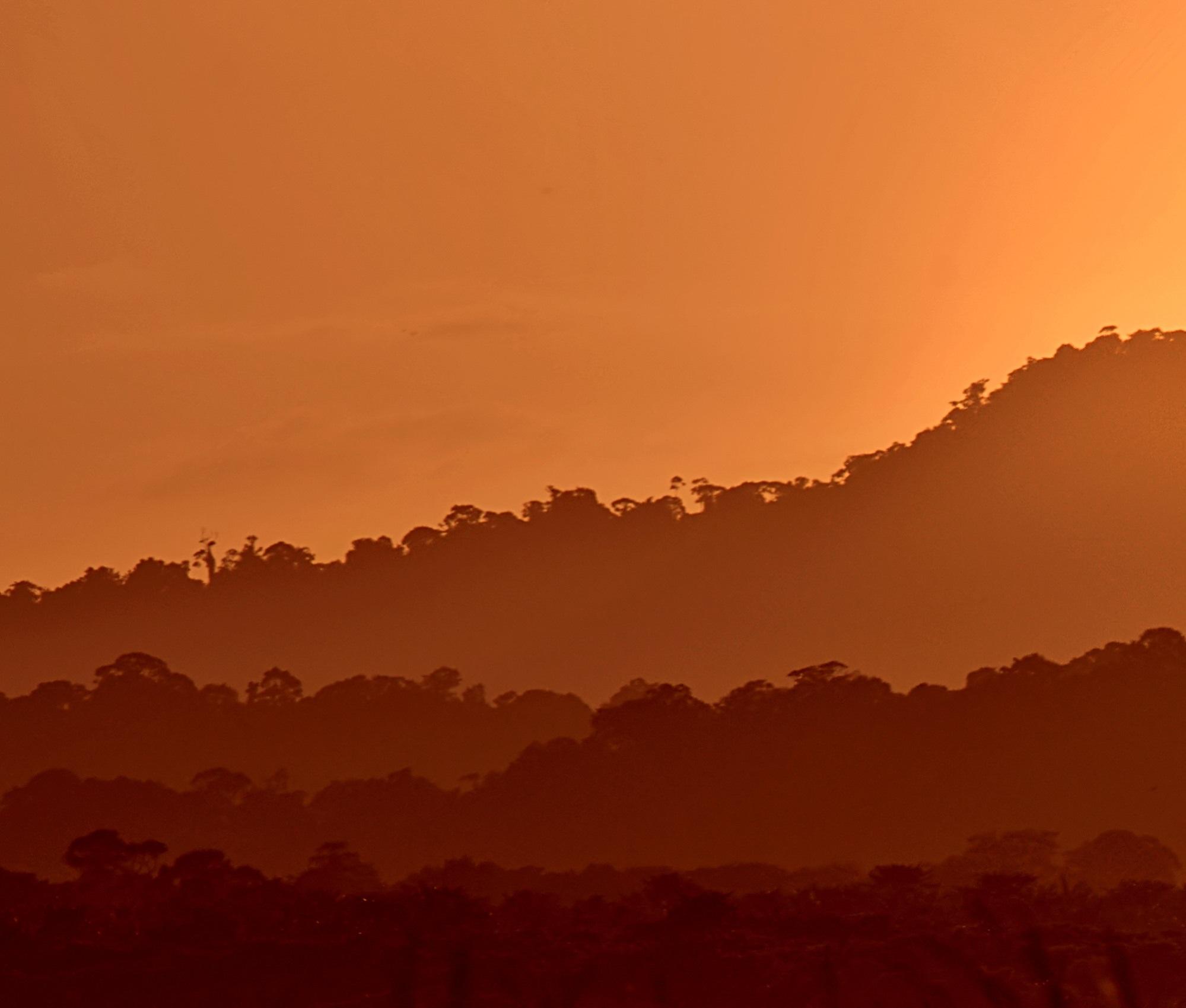 Coucher de soleil en Guyane