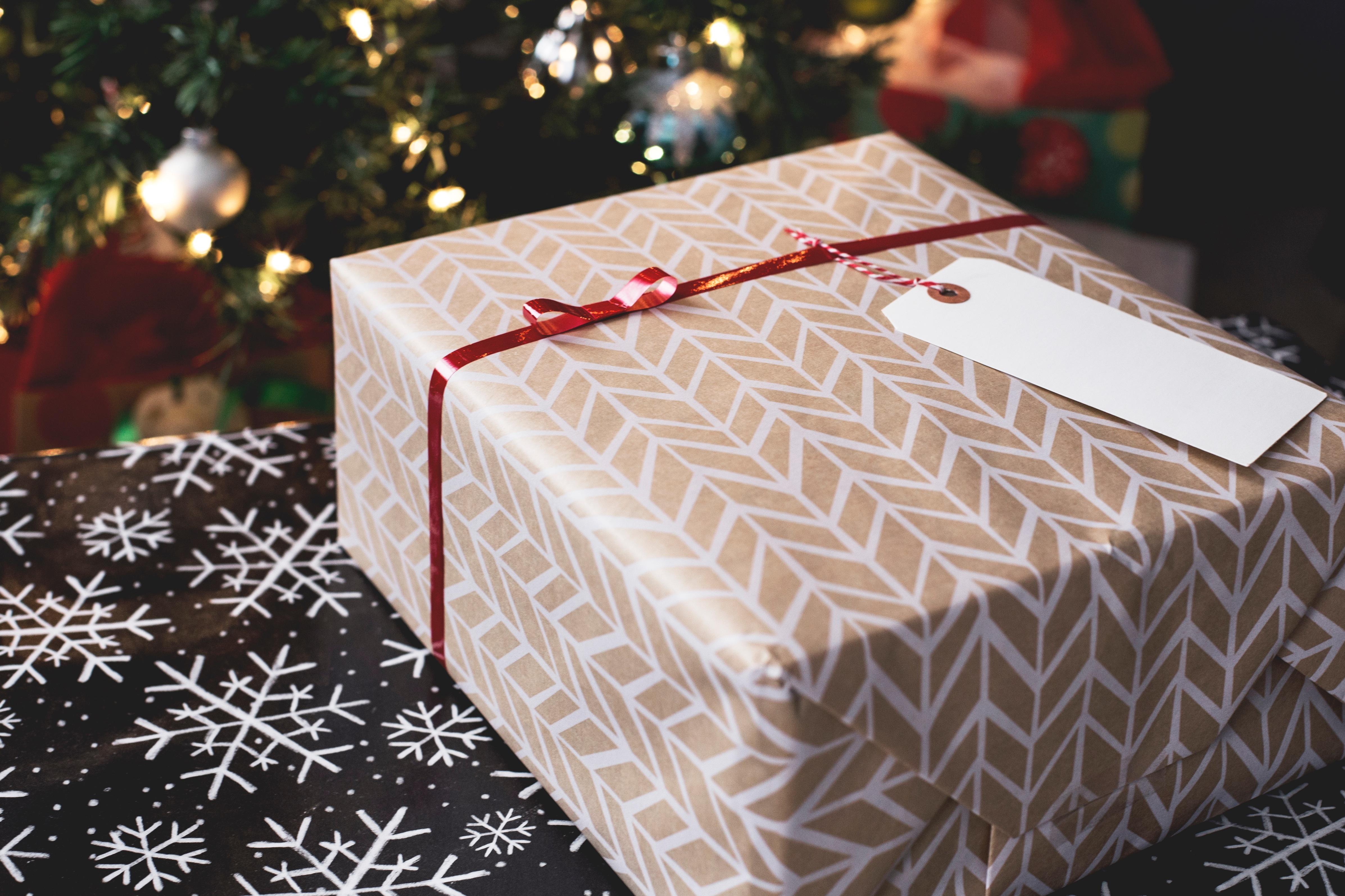 Paquet cadeau pour Noël