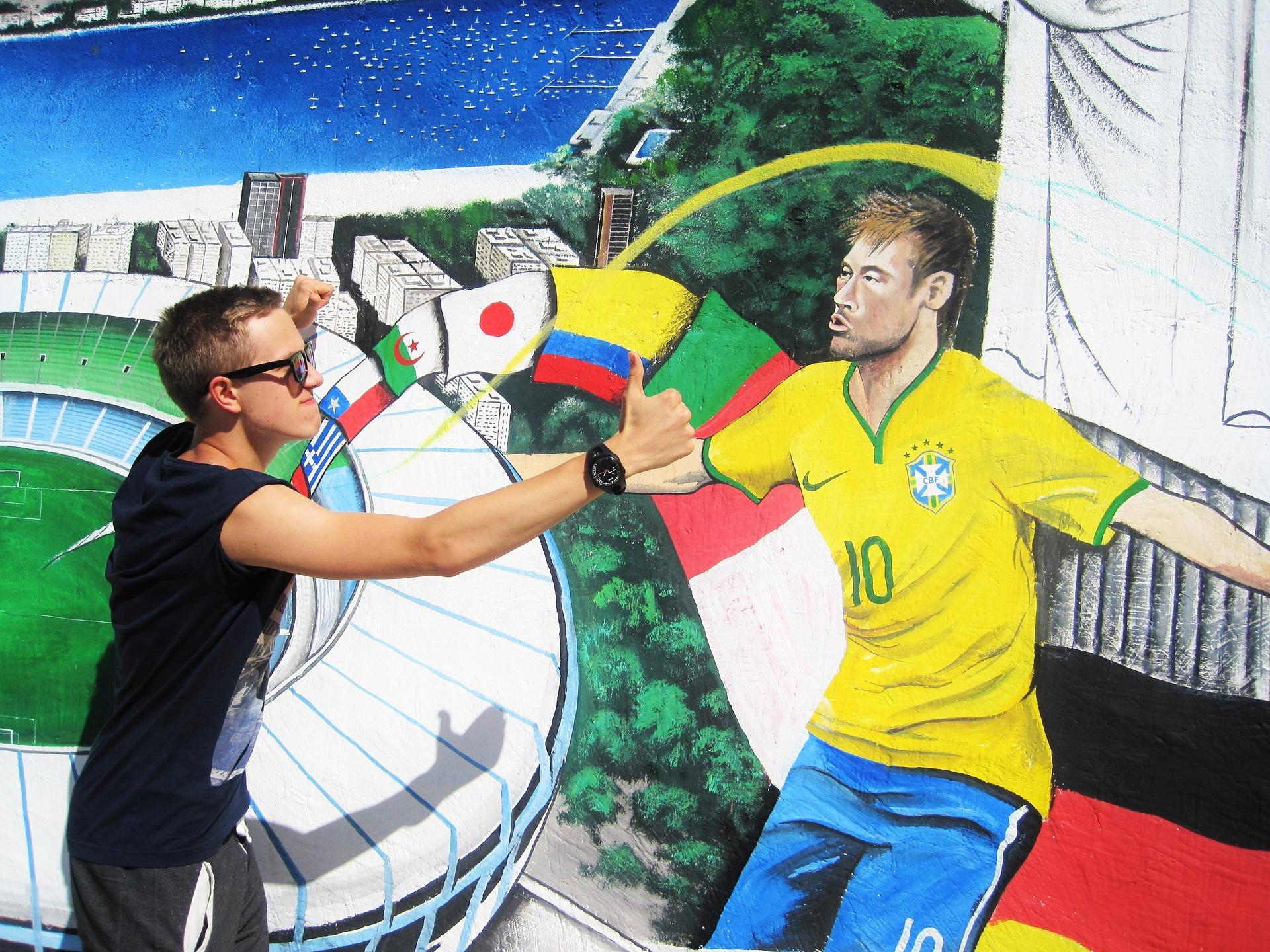Fresque Neymar
