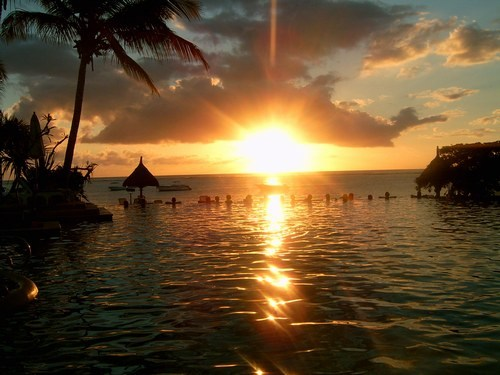 Image une soirée magnifique - soirée,île,magnifique,paysage,paradisiaque