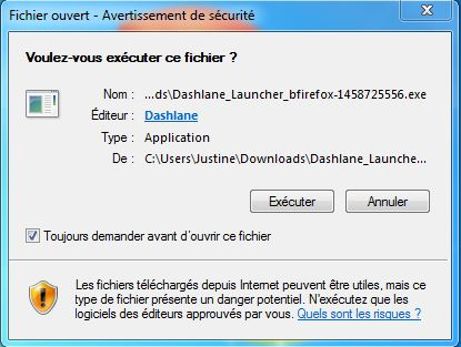 dashlane-installation