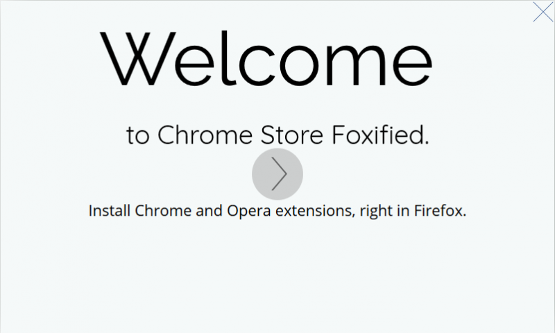 Extension Chrome sur Firefox