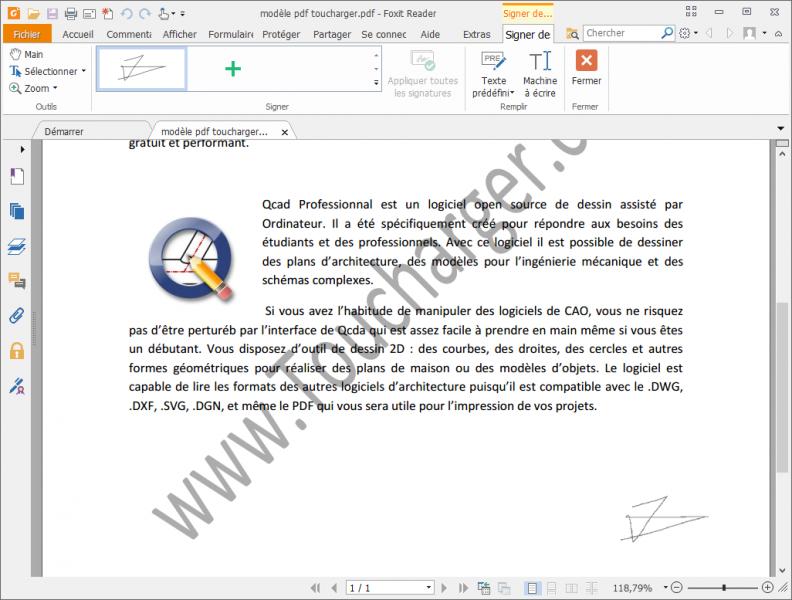 COMMENT AJOUTER UNE SIGNATURE DANS UN DOCUMENT PDF ? FoxitReader_2016-10-17_10-37-04