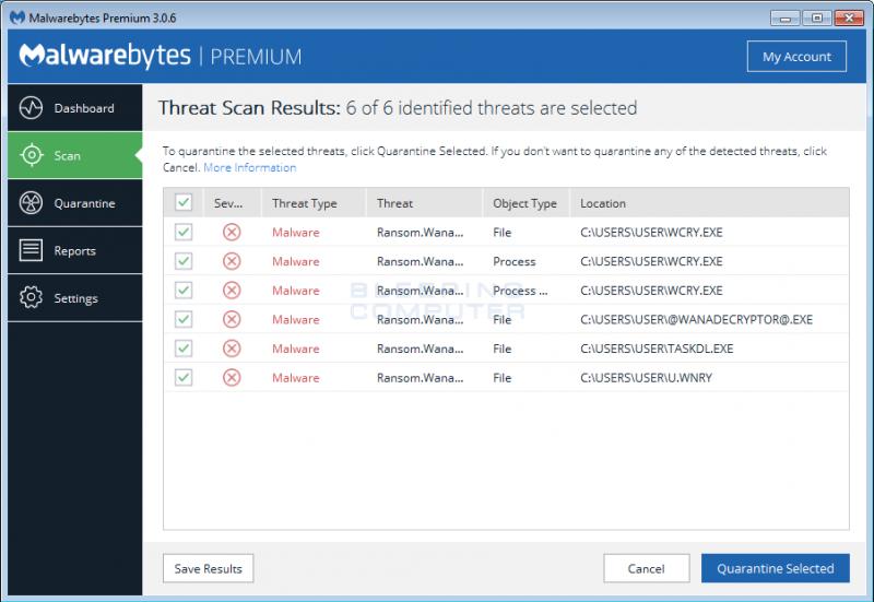 Malwarebytes WannaCryptor