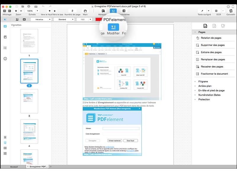 comment modifier un pdf en word sur mac