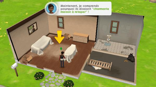 premiers pas dans l 39 univers les sims mobile. Black Bedroom Furniture Sets. Home Design Ideas