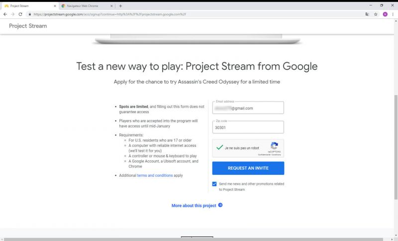 Chrome Project Stream