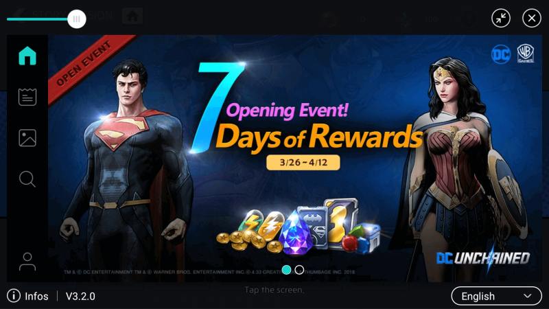 Daily Rewards Dc unchained