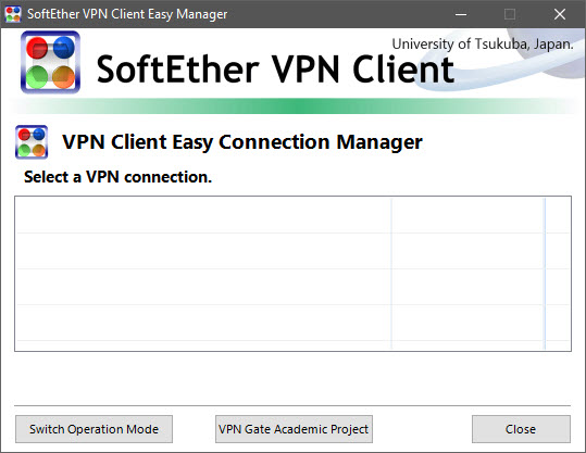 Softether VPN Client interface