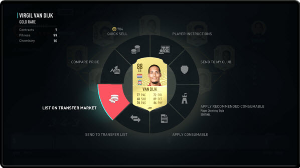 FIFA 20 management Companion app