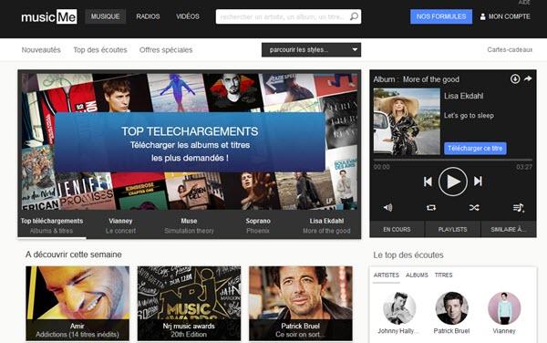 COMMENT ÉCOUTER DE LA MUSIQUE GRATUITEMENT SUR INTERNET ? Musicme-screen