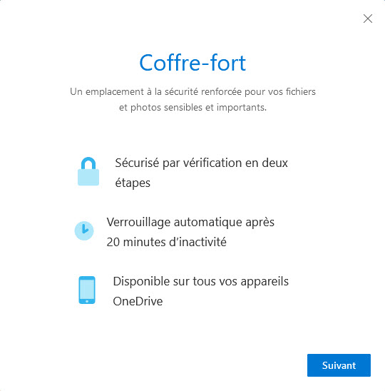 OneDrive coffre-fort