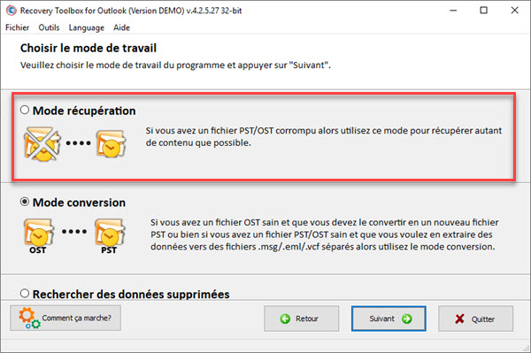 COMMENT RÉPARER UN FICHIER .OST OU .PST AVEC RECOVERY TOOLBOX FOR OUTLOOK ? Recovery%20Toolbox-4