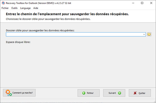 COMMENT RÉPARER UN FICHIER .OST OU .PST AVEC RECOVERY TOOLBOX FOR OUTLOOK ? Recovery%20Toolbox-6