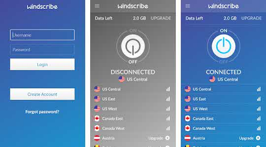 Windscribe vpn Android free