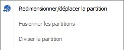 Redimensionner partition