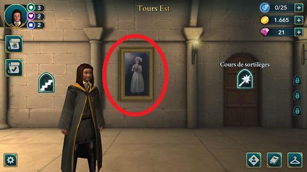 Déclenchez l'apparition du personnage dans le tableau.